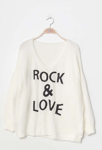 Rock & Loves sweater in White
