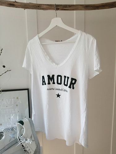 AMOUR vintage Tee in white