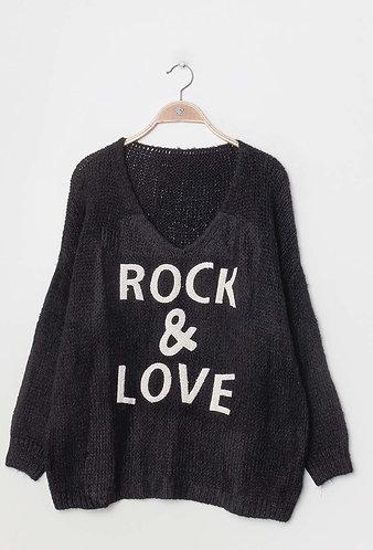Rock & Love Sweater in Black