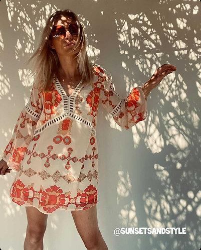 Savannah Tunic/dress in Tangerine or fuchsia