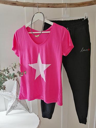 Cerise pink star Tee