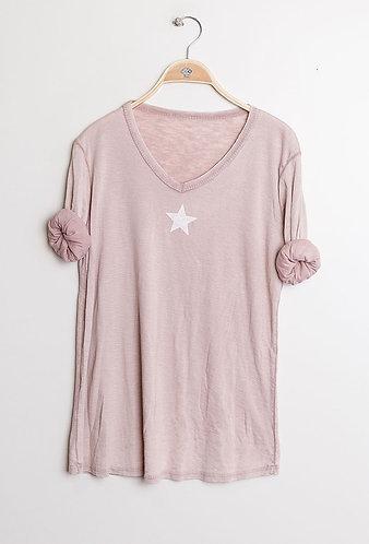 Pink Star Cotton Tee