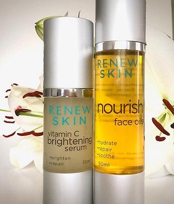 Brightening Serum & Nourish Oil Duo.