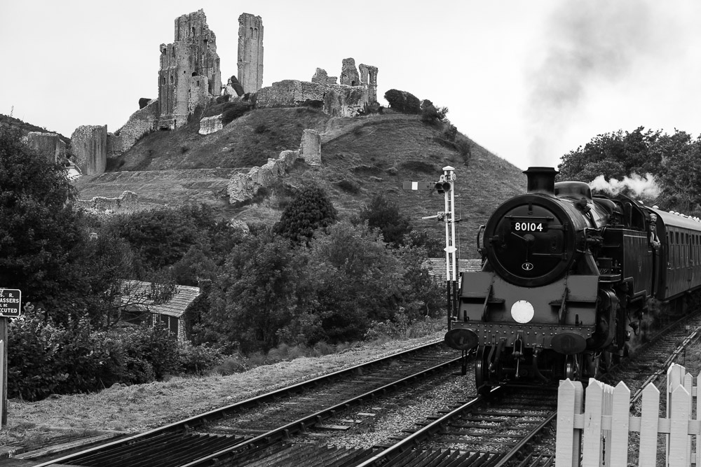 Steam train, Corfe Castle