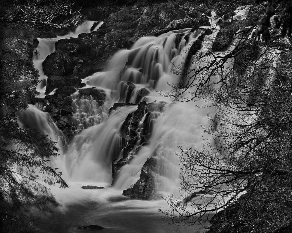 Swallow Falls b&w