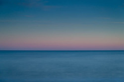 Blue & Pink sea, abstract