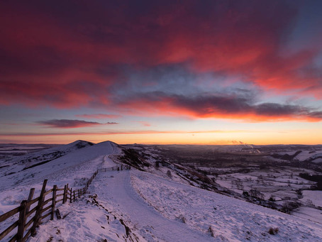 Sunrise, and a sky of fire!
