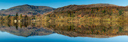 Coniston Water, reflection, panorama
