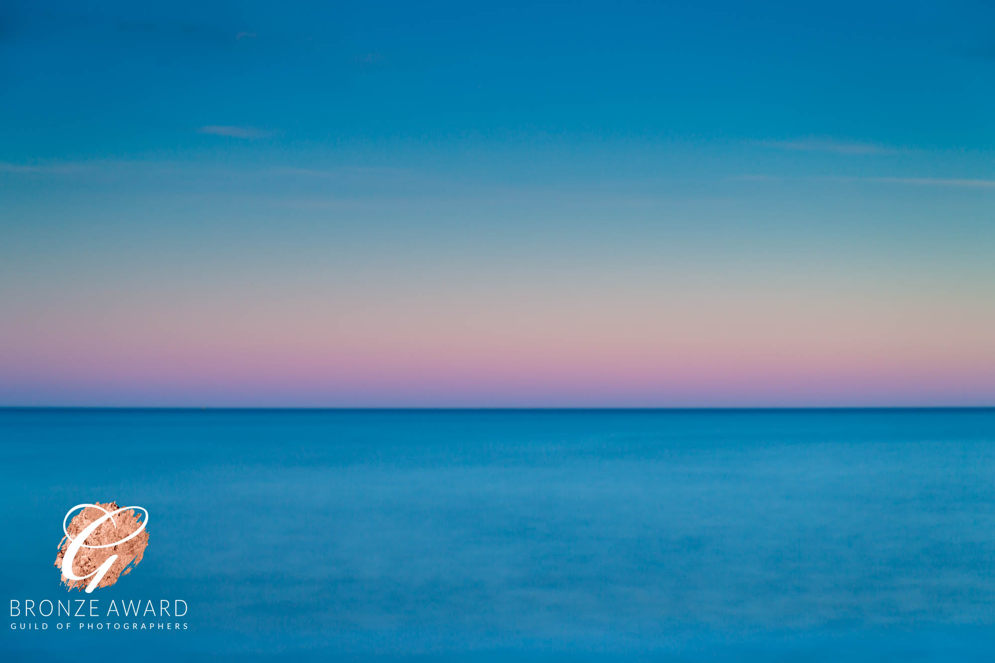 Seascape, blue & pink-186