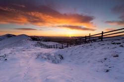 Hope Valley, The Great Ridge, sunrise