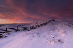 Mam Tor, Peak District, sunrise, stormy