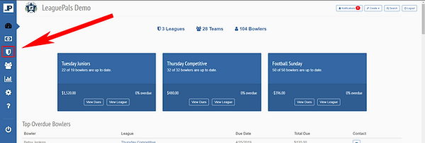 Manager Dashboard - Manage Leagues.PNG