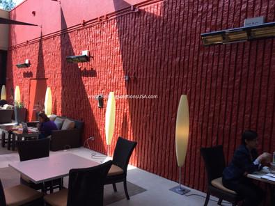 solaira alpha H3 patio heaters HILTON-PASADENA Patio area