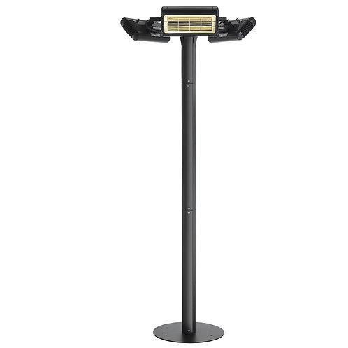 Solaira Malibu fixed location area heater 6000W, 208/240V Black, Ultra Low Light