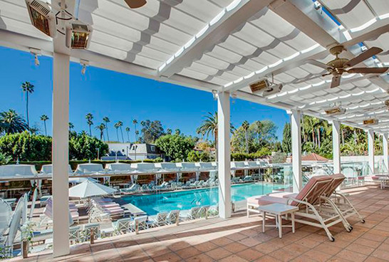patio heaters Solaira-Alpha-H1-BEVERLEY-HILLS-HOTEl pool lounge