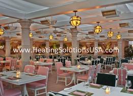 solaira alpha series patio heaters BEVERLEY HILLS HOTEL - CABANA RESTAURANT