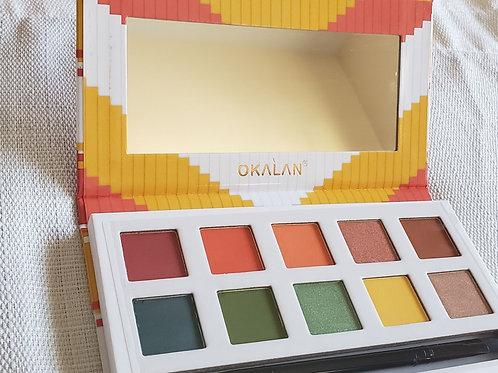 10 color shadows palette