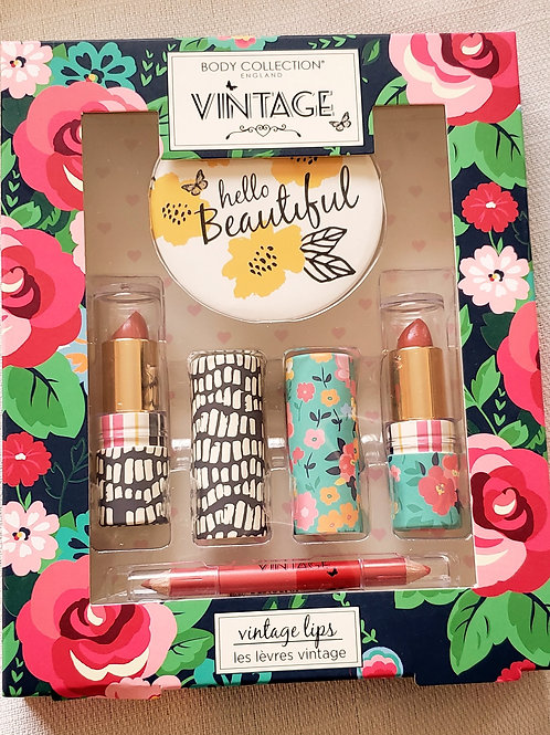body collection vintage lipstick & lip liner gift set