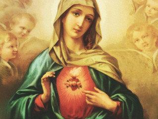 Imaculado Coração de Maria e sua grande chama de amor