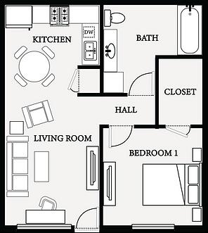 Rick Court 1 Bedroom floorplan 2021-min.
