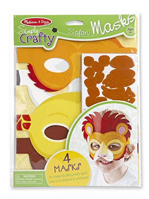 Melissa & Doug Simply Crafty Safari Mask Kit