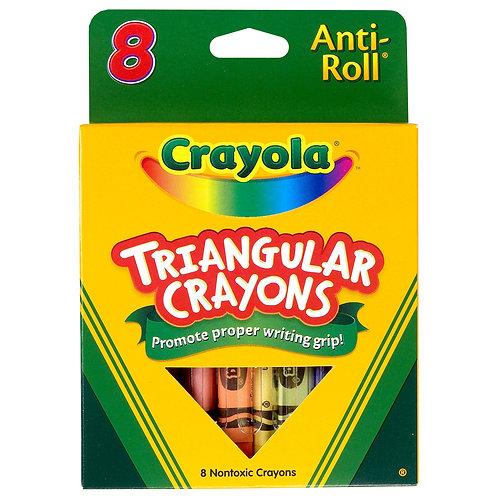 Crayola Crayons Triangular Antiroll Multicolor, 7/16 X 4 in