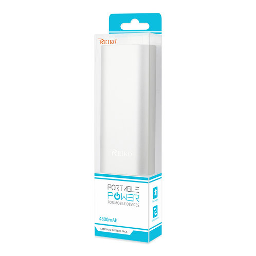 2A5V 4800Mah Universal Power Bank With Micro Cable In Silver