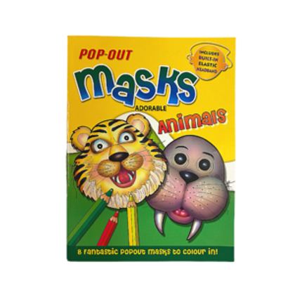 Winners Mask Pop Out Coloring Book