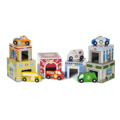melissa and doug nesting and sorting garages and cars