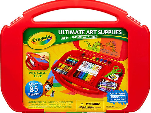 Crayola Ultimate Art Case With Easel, 85 Pieces, Gift For Kids Multicolor