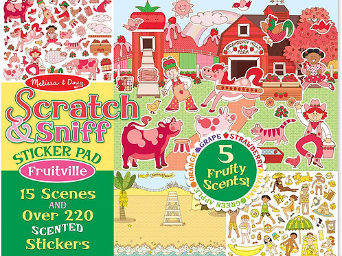 Melissa & Doug Scratch and Sniff Sticker Pad: Fruitville