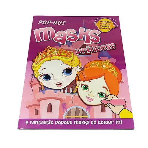 Pop out mask princess coloring book