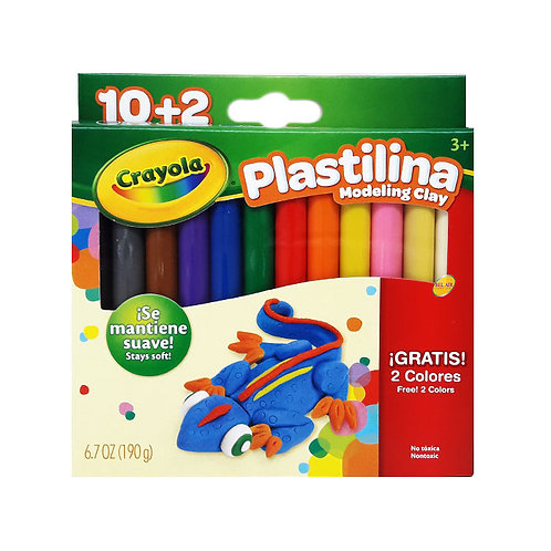Crayola Plastilina 12 Color Modeling Clay