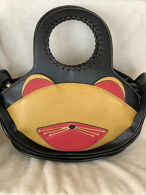 Women's Fashion Top Handle Cute Cat Cross Body Shoulder Bag