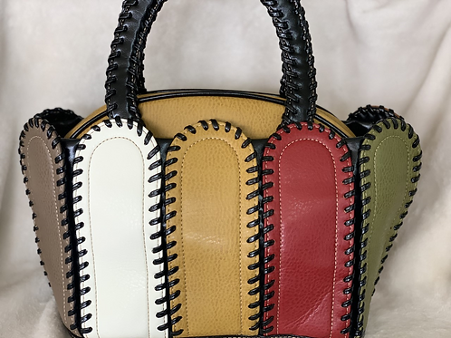Multi Color Stitch Handbag
