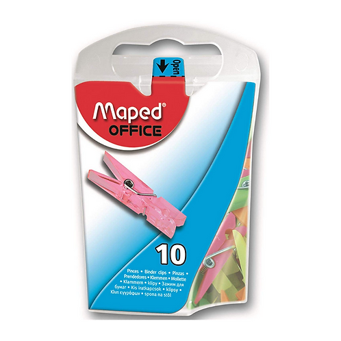 Maped 10mm Mini Clothes Pins / Pegs in Dispenser Box (10 Pack)