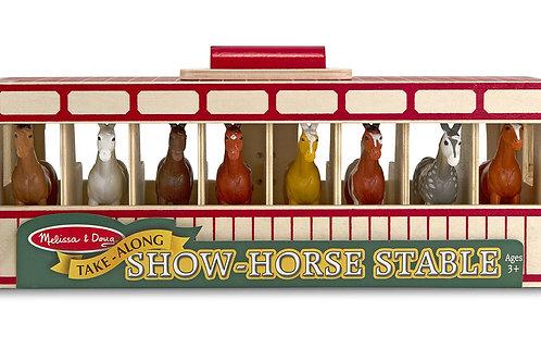 Melissa & Doug Take-Along Show-Horse Stable Play Set