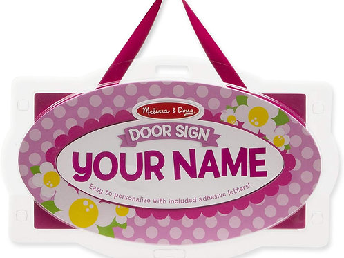 Melissa & Doug Wooden Door Plaque Craft Kit: Flowers - Personalized Name Sign