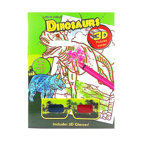 3D Coloring Book Dinosaurs