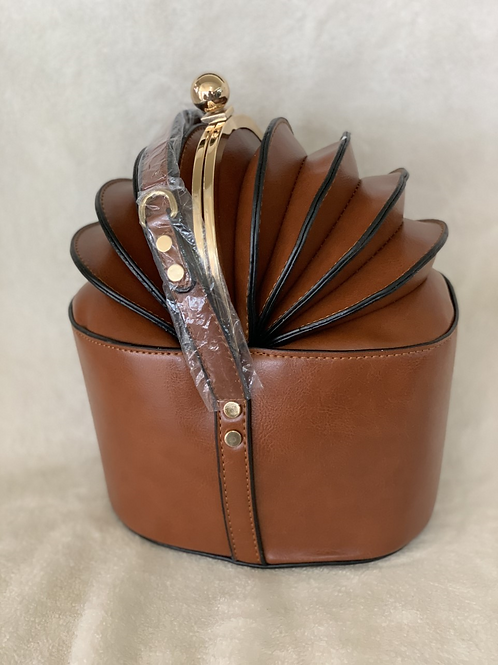 Brown Bag with Gold handle