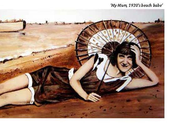 03 - My Mum, 1930's beach babe
