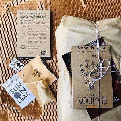 Sow + Sip Packaging Design for Woollykins