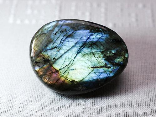 Labradorite pebble - width 65mm by 50mm deep
