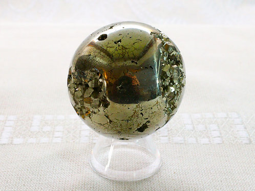 Pyrite Sphere - 50mm diameter