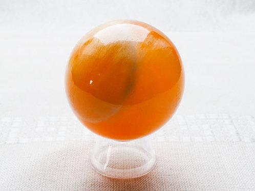 Orange Calcite Sphere - 55mm diameter