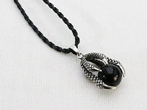 Dragon Claw Pendant - Black Agate