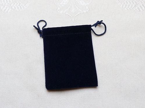 Blue velvet pouch - 70mm x 70mm