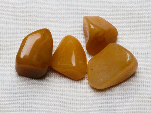 Yellow Aventurine Tumblestones - 50gm with blue velvet pouch