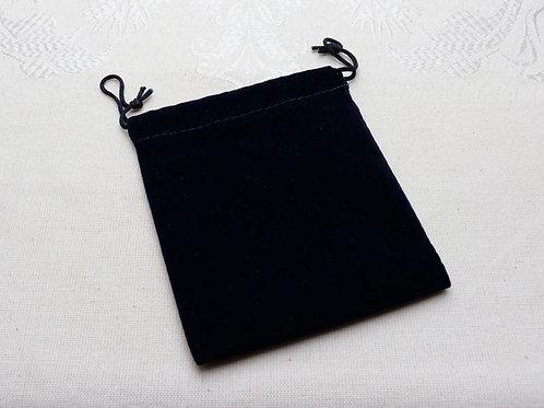 Blue velvet pouch - 100mm x 100mm