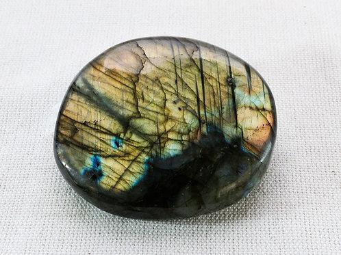Labradorite pebble - width 60mm by 55mm deep